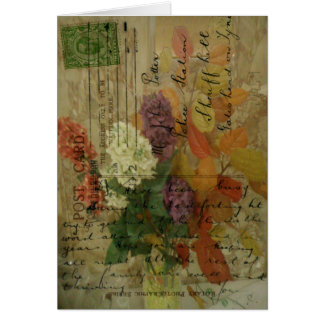 Postcard Blooms Greeting Cards