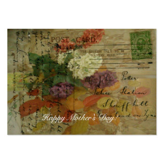 Postcard Blooms Gift Tag Pack Of Chubby Business Cards