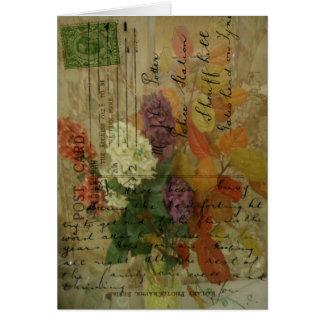 Postcard Blooms Greeting Card