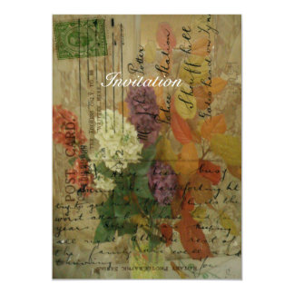 Postcard Blooms 13 Cm X 18 Cm Invitation Card