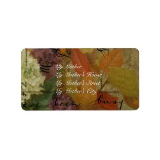 Postcard Blooms Address Label