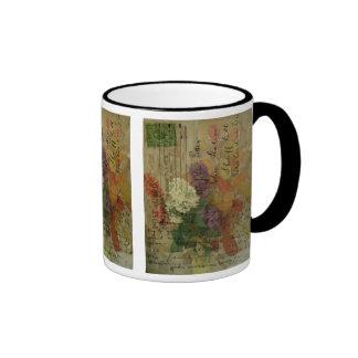 Postcard Blooms Coffee Mugs