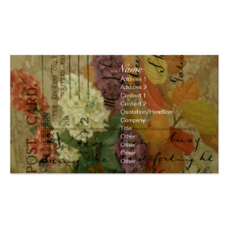Postcard Blooms Pack Of Standard Business Cards