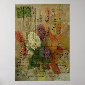 Postcard Blooms Print