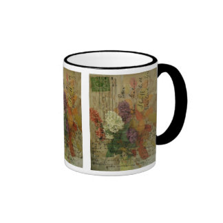 Postcard Blooms Ringer Mug