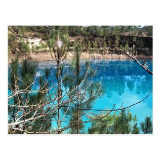 postcard blue pond touverac Charente