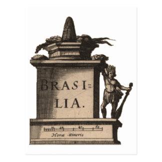 Postcard: Brasilia, here. 1624 Postcard