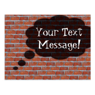 Postcard Brick Wall Thought Bubble card