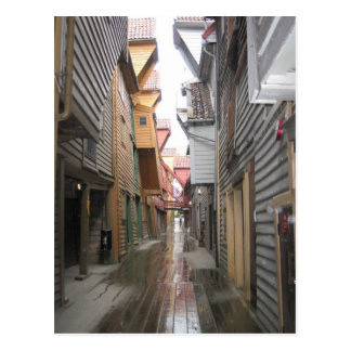 Postcard: Bryggen Walkway, Bergen, Norway Postcard