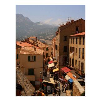 Postcard Calvi Town, Corsica Island, France