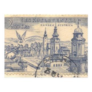 Postcard: Canceled Czechoslovakian Postage Postcard