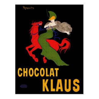 Postcard: Chocolat Klaus - Leonetto Cappiello Postcard