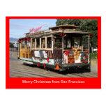 Postcard, Christmas Cable Car, San Francisco