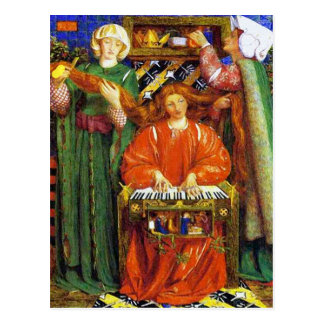 Postcard Christmas Carol - by Rossetti