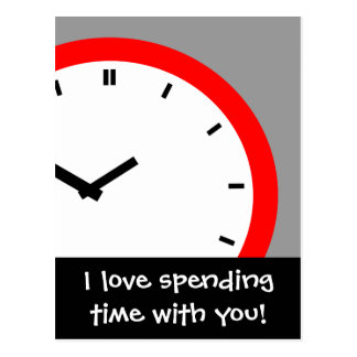Postcard Clock Face Spending time together Retro