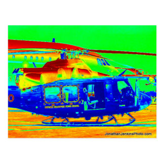 Postcard - Colourful Helicopter