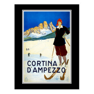 Postcard Cortina D' AMPEZZO Italy Greetings