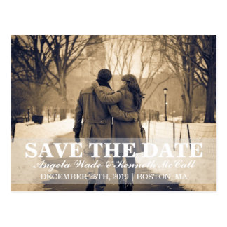 Postcard - Couple Save the Date