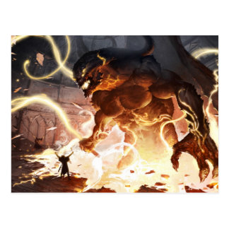 Postcard - Daelhac and the Balrog