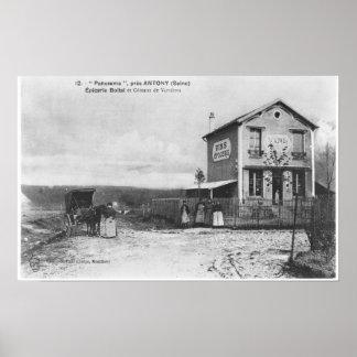 Postcard depicting a 'Panorama' near Antony Poster