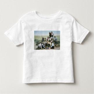 Postcard depicting cowboys gambling shooting craps toddler T-Shirt