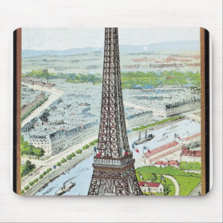 Postcard depicting the Eiffel Tower Mouse Mat