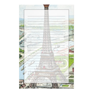 Postcard depicting the Eiffel Tower Stationery