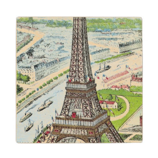 Postcard depicting the Eiffel Tower Wood Coaster