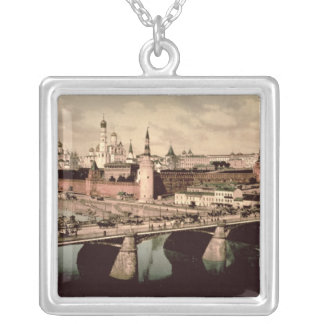 Postcard depicting the Kremlin, Moscow Silver Plated Necklace