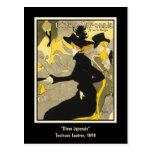 Postcard: Divan Japonais by Toulouse-Lautrec