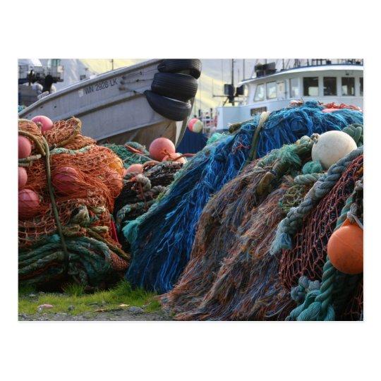 Postcard / Dutch Harbour, Unalaska Net Pile