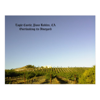 Postcard: Eagle Castle overlooking its vineyard Postcard