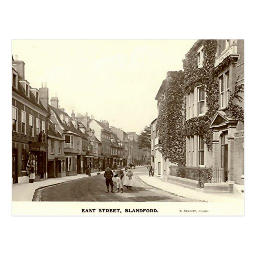 Postcard, East Street, Blandford Forum, Dorset Postcard