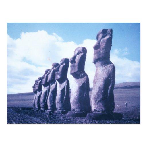 Postcard-Easter Island, Chile