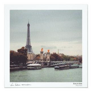 Postcard - Edges of the Seine 13 Cm X 13 Cm Square Invitation Card