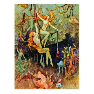 "Postcard: ""Fairy Mermaids"" by Warwick Goble Postcard"