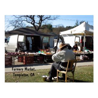 Postcard: Farmers Market, Templeton, CA