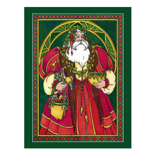 Postcard:  Father Christmas - Santa - Solstice