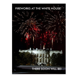 Postcard, FIREWORKS AT THE WHITE HOUSE.. - Postcard