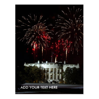 postcard FIREWORKS AT THE WHITEHOUSE - Customized