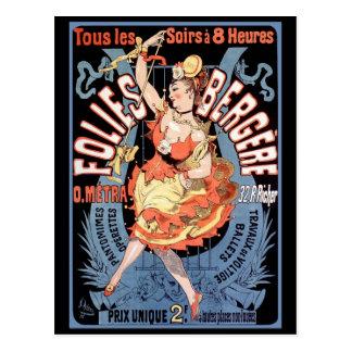 Postcard Folies Bergere