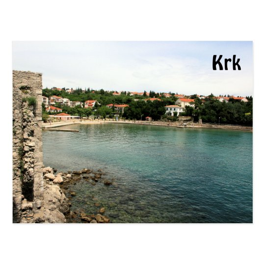 postcard for Krk, Croatia