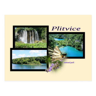 postcard for national park Plitvice, Croatia