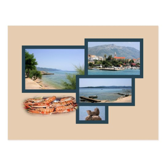 postcard for Orebic, Peljesac, Croatia