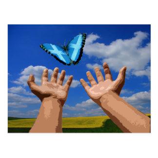 Postcard Free Scotland Butterfly