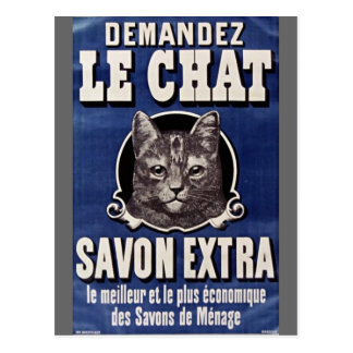 Postcard french vintage cat