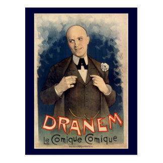 Postcard french vintage Dranem