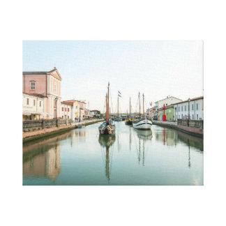 Postcard from Cesenatico #4 (Italy) Canvas Print