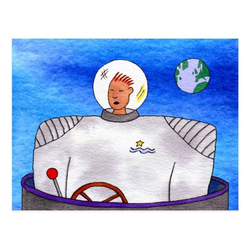 Postcard from Outer Space TinCan SpaceMan