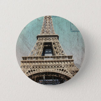 Postcard From Paris EIffel Tower 6 Cm Round Badge